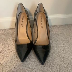 Madden girl stiletto black heels